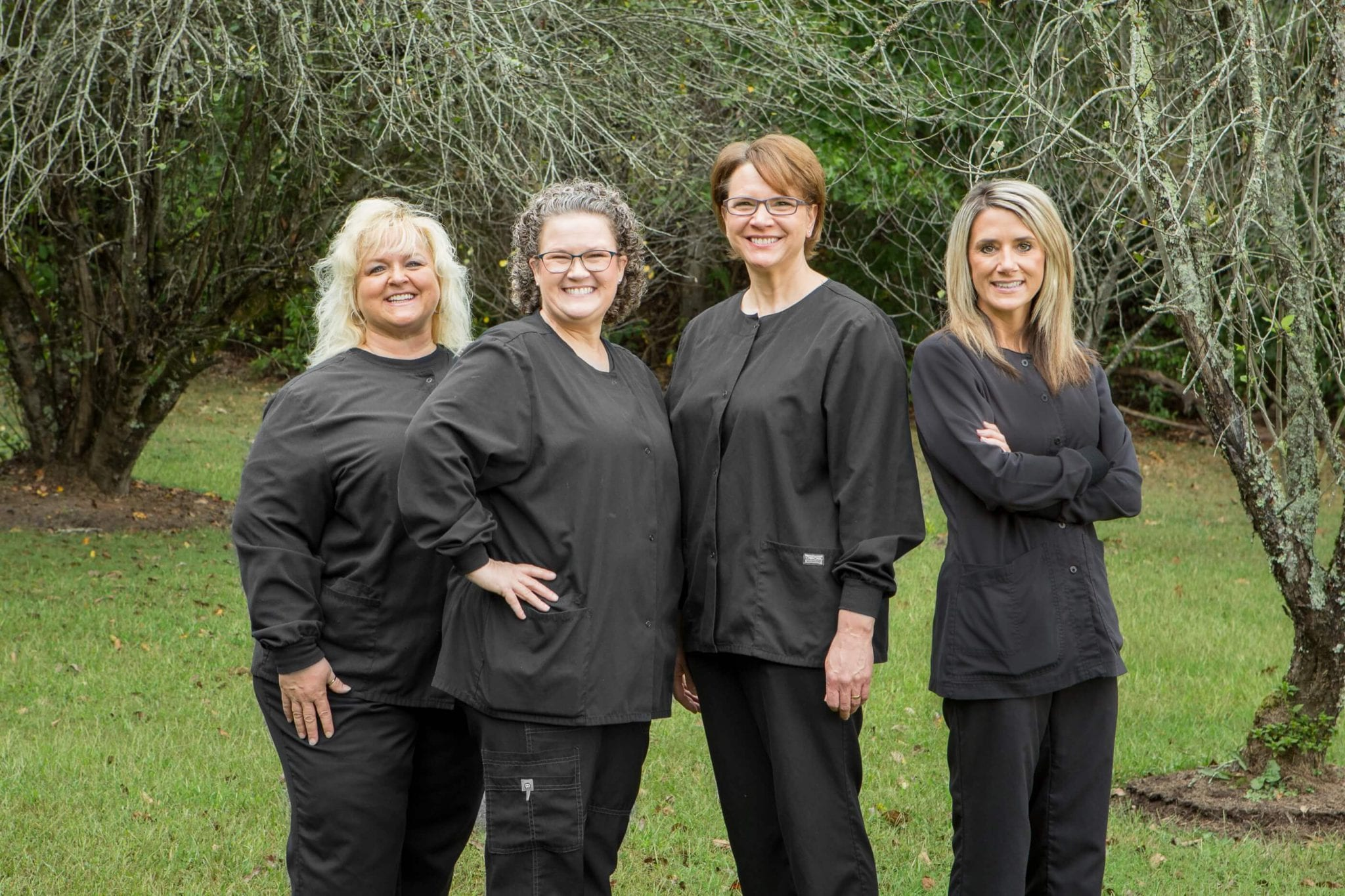 The Dental Assistant Team of Baldwell and Guffey Family Dentistry Standing Together