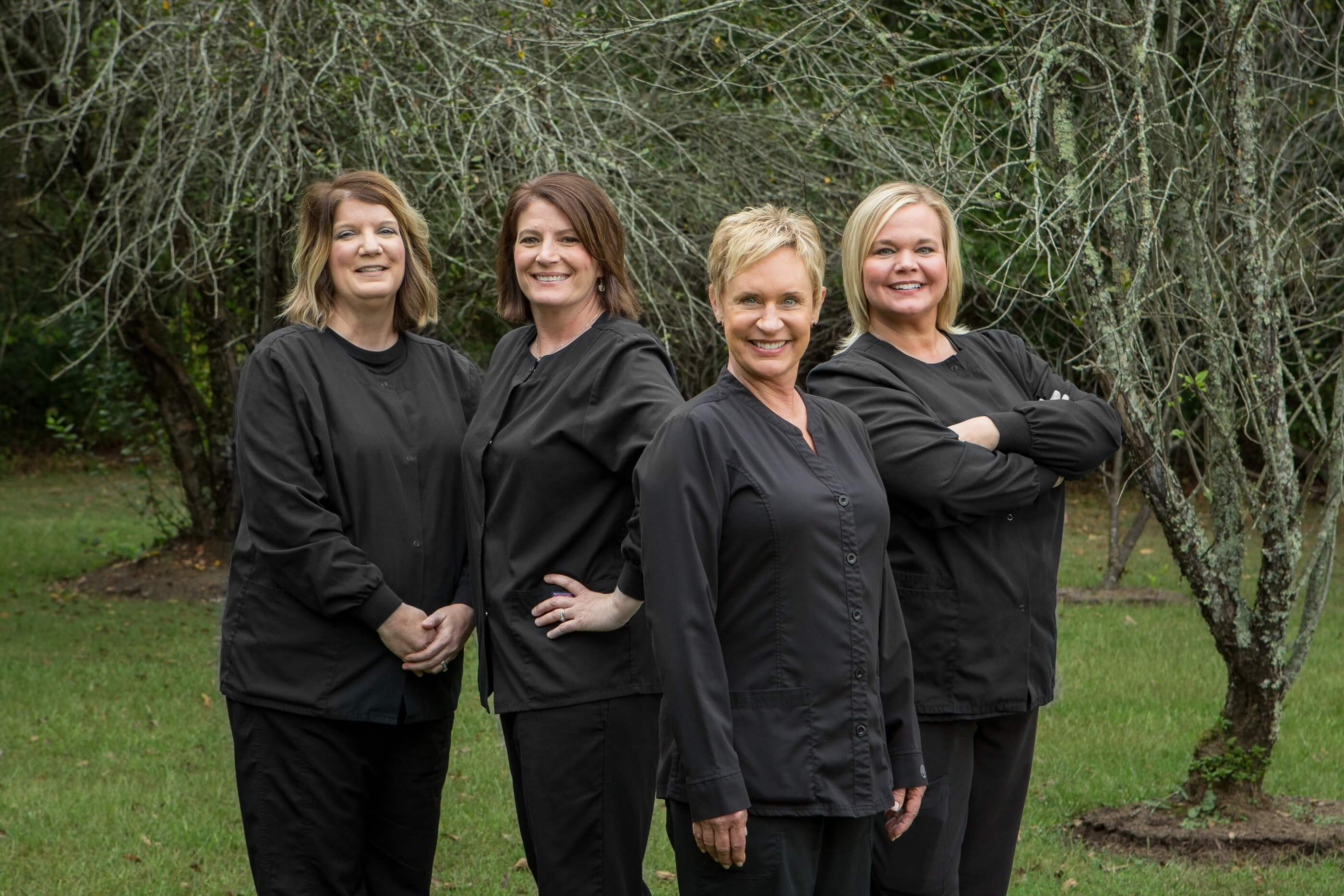 The Administrative Team of Baldwell and Guffey Family Dentistry Standing Together